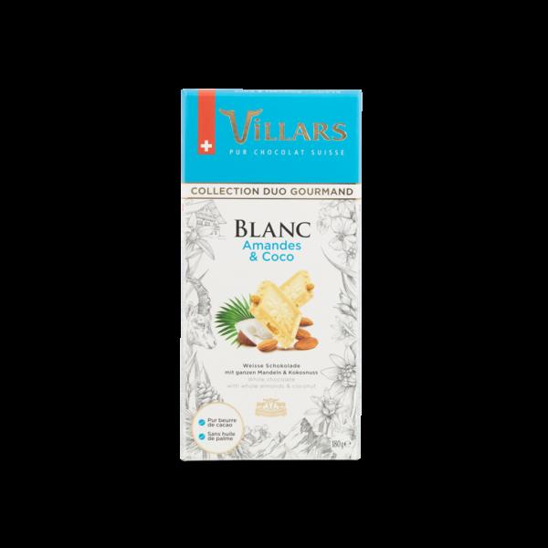 Chocolat blanc aux amandes et noix de coco
