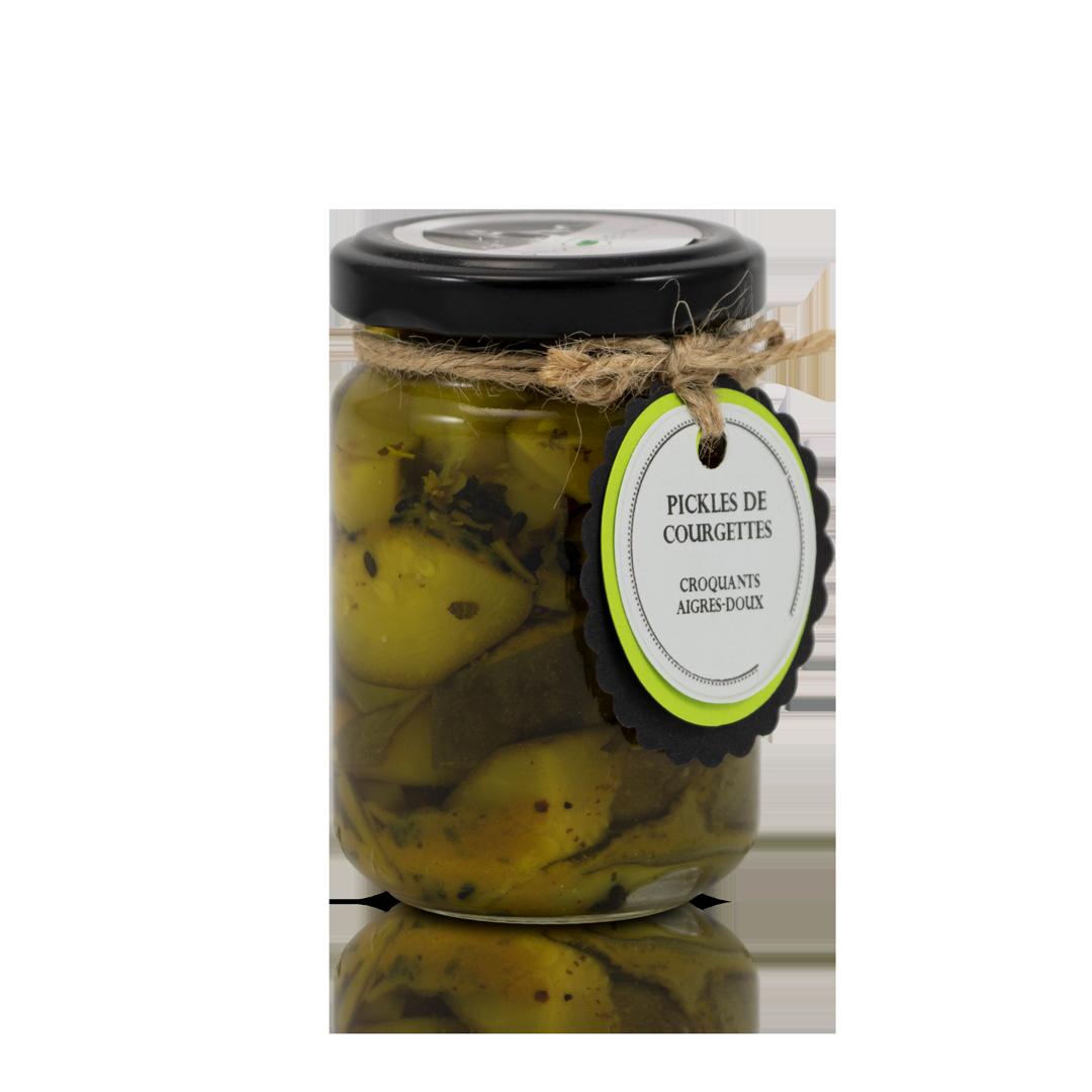 Croquants aigre-doux: Pickles de courgettes à l'aigre doux 110g égoutté