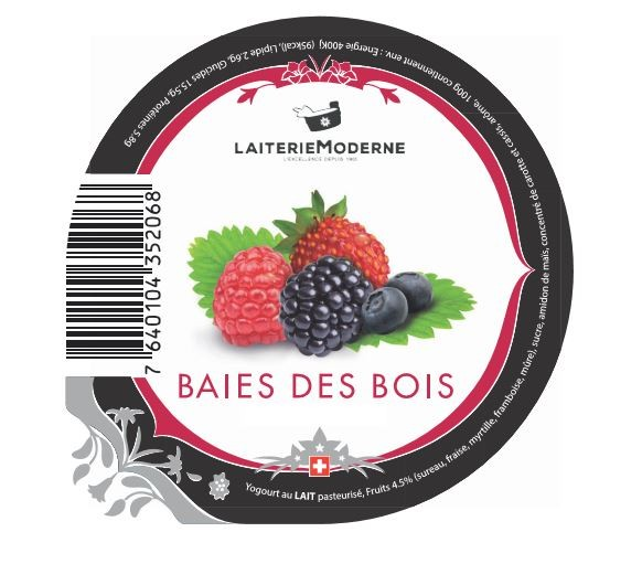 Yogourt BAIES DES BOIS 180g