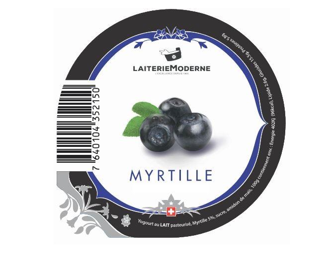 Yogourt MYRTILLE 180g