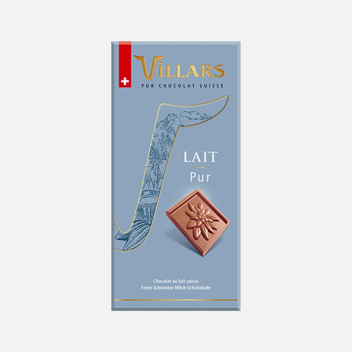 VILLARS LAIT PUR 100g