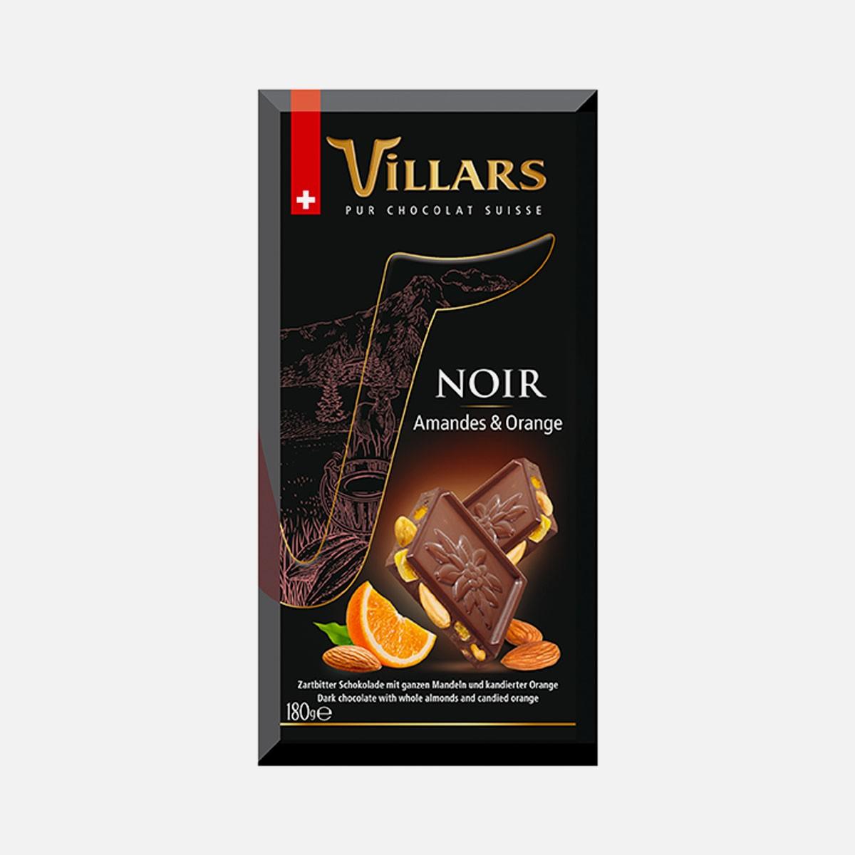 VILLARS Noir Amandes & Orange