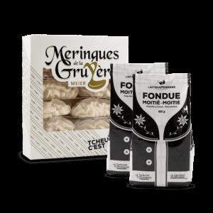 Super Pack : 2 Fondues (400g), 1 Meringues (12 pièces)